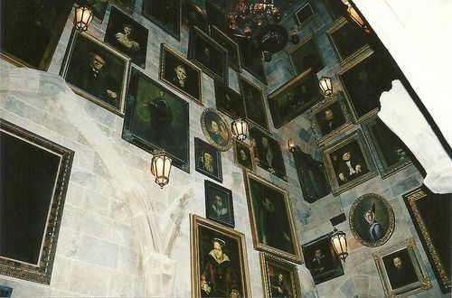 antique, green, and paintings image