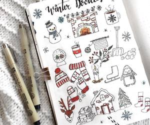 christmas, december, and doodles image