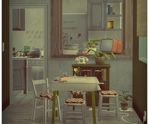 clutter, the sims 2, and dining image