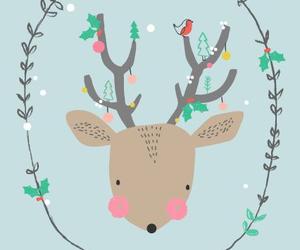 christmas, deer, and wallpaper image