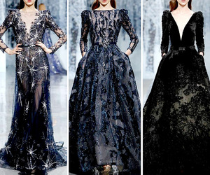 black, Couture, and blue image