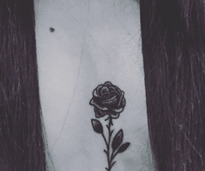 black, ink, and rosa image