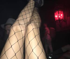black, edgy, and fishnet image