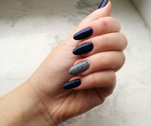 dark, nails, and longnails image
