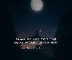 dark, lost, and night image