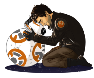 star wars, poe dameron, and bb-8 image