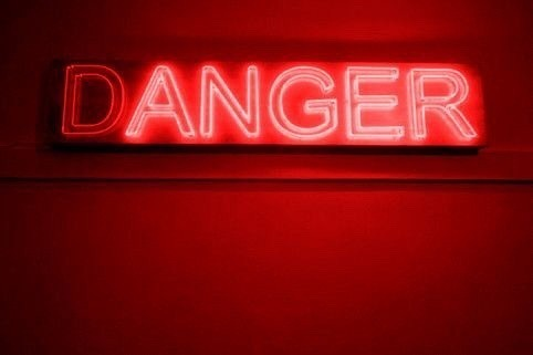 danger, neon, and red image