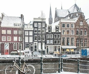 amsterdam, buildings, and christmas image