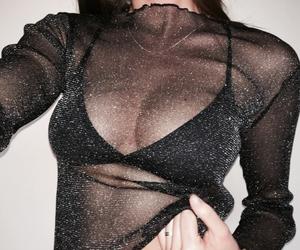 beautiful, black, and bra image