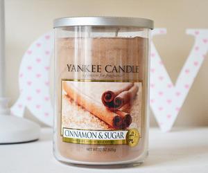 candle, yankee candle, and Cinnamon image