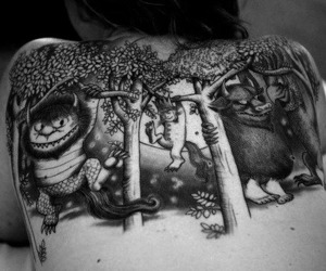 tattoo, where the wild things are, and back image