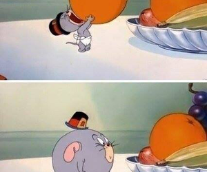 orange, tom and jerry, and funny image