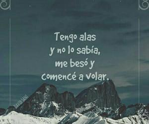 beso, frases en español, and volar image