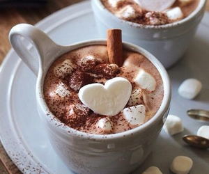 cacao, we heart it, and marshmsllows image