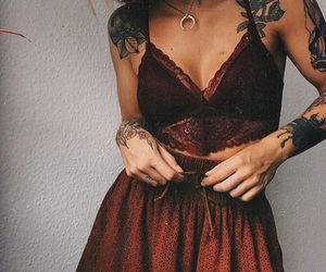 outfit, fashion, and tattoo image