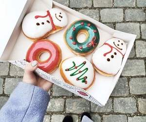 donuts, food, and christmas image