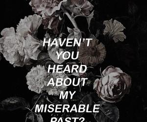 aesthetic, Lyrics, and flowers image