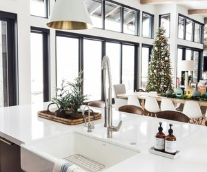living room, holiday decor, and home tour image