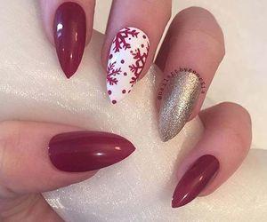 christmas, nail, and holiday nail image