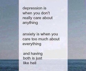 depression, anxiety, and hell image