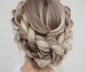 blonde, braid, and braided image
