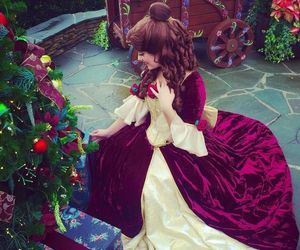 beauty and the beast, christmas, and decoration image