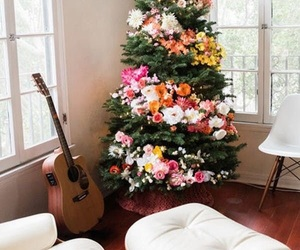 christmas, decorations, and flowers image
