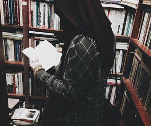 hijab, beauty, and book image