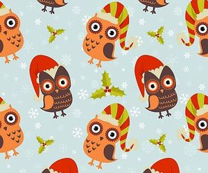 christmas, owls, and patterns image