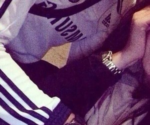 couple, adidas, and thug love image