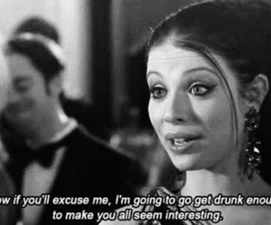 gossip girl, drunk, and quotes image