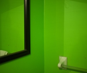 wall, green, and mirror image