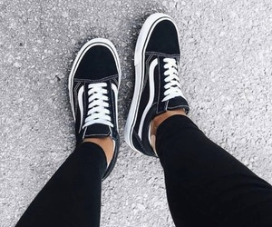black, shoes, and trainers image