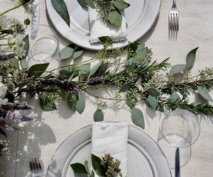dinner, green, and party image