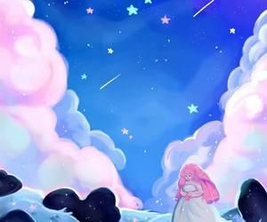 night, rose quartz, and wallpaper image