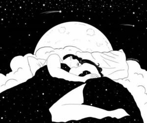 bed, couple, and night image