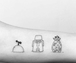 beauty, bob esponja, and tattoo image