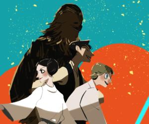 han solo, Princess Leia, and luke skywalker image