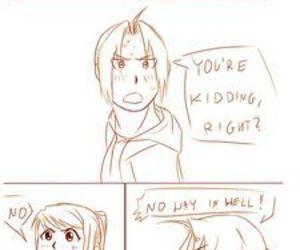 anime, edward x winry, and edward elric image