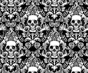 background, damask, and pattern image