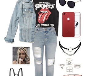 hair, iphone, and outfit image