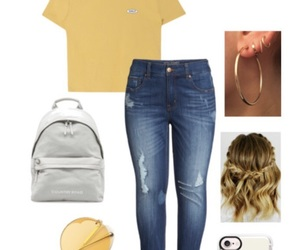 glasses, hoops, and jeans image