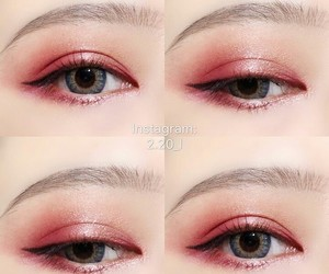 asian, eyebrows, and eyeliner image