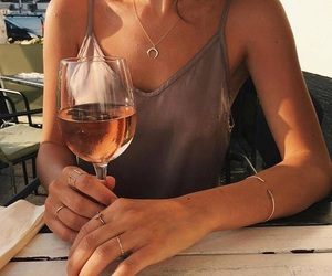 fashion, vogue, and rosé wine image