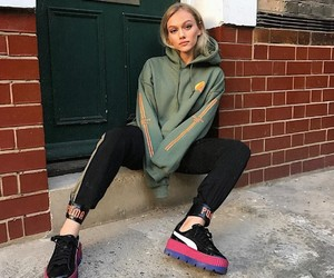 blonde, chill, and comfy image