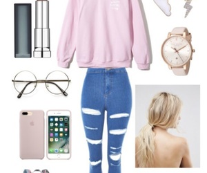 glasses, iphone, and jumper image