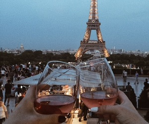 cheers, evening, and eiffel tower image
