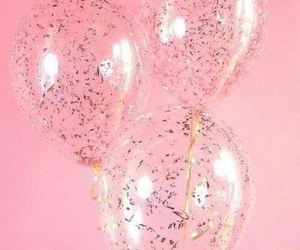 pink, balloons, and aesthetic image