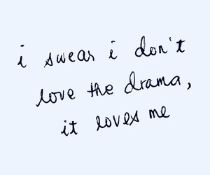 drama, handwritten, and Lyrics image