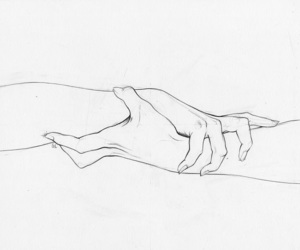 drawing, hold, and hands image